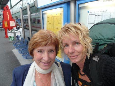 In the train Station in Stuttgart