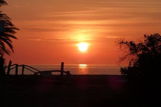 sunrise in Mulege - ready for a hot day.