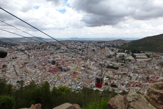 Zacatecas view from the swiss build gondola