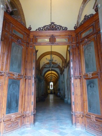 Main plaza church doors in Oaxaca.