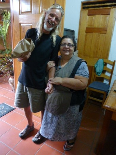 Flaco with our favourite Gordita - Rosa, who takes care of John and Reid's apartment in Oaxaca