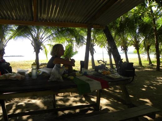 Pochote Beach with a kitchen are and a picnic table and our