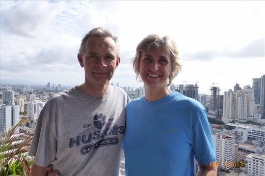 Our most wonderful hosts in Panama City, Now the city has a whole new meaning for us!