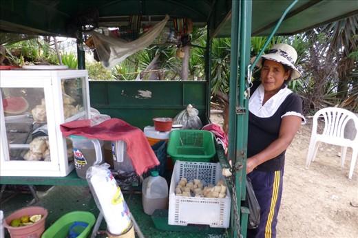 Loading up on sugar cane juice.