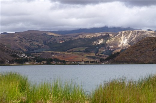the lagoon right before the ascend to Huamachuco