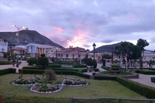 Plaza de Armas in Huamachuco