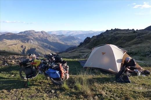 camping at 3800m.