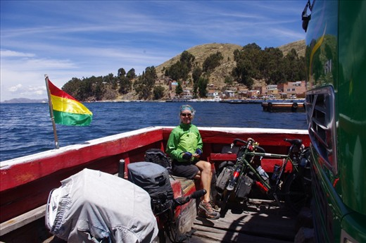On a ferry towards La Paz.