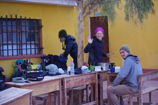 We found Ali and Glenn (had met them before in Cusco and Puno) on the side of the road 20km from Potosi and had a fun time eating and camping together before heading off together to Potosi the next day.