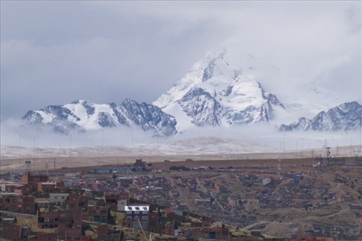 La Paz greeted us with beauty and a hail/snow storm.