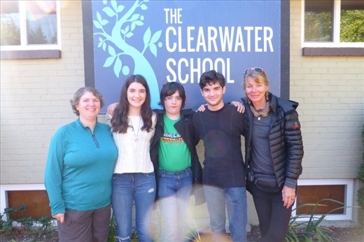 Ailcia and her crew at Clearwater School in Snohomish.