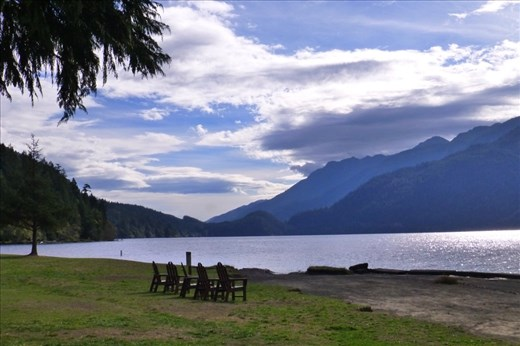 Crescent Lake - the end of the Olympic Adventure Trail.