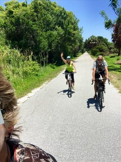 Riding the Legacy Trail https://en.m.wikipedia.org/wiki/Legacy_Trail_(Florida)