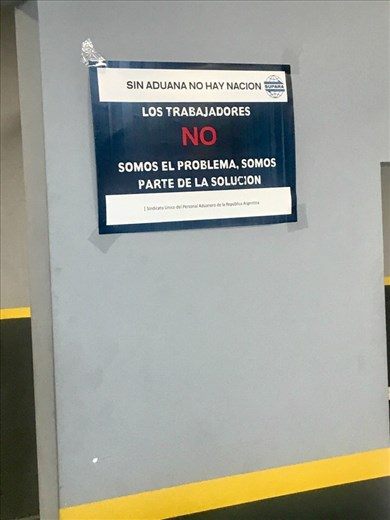 My favorite sign: No customs, no nation.