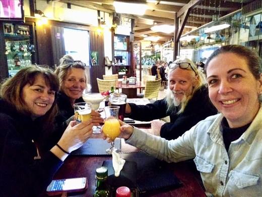 Beer Garden evening in Blumenau with our wonderful hosts.