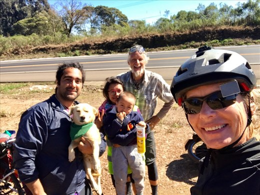 Met this fun touring family from Bogota, Columbia on the side of the road