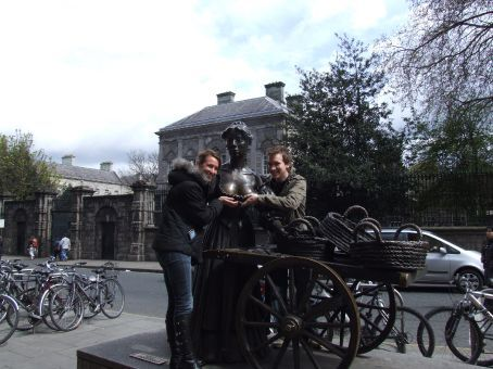 There's a reason we're cupping the young woman's succulent breasts. It's ahh, ... it's ahhh.... Can't quite remember.  Ah yes! It's Molly Malone!