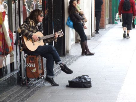 Another busker in Dublin.