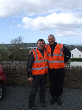 Our riding buddies: tea importer, Arthur (or 'Artr'), and software programmer, Dermott - they both kept the craic rolling in thick and fast.