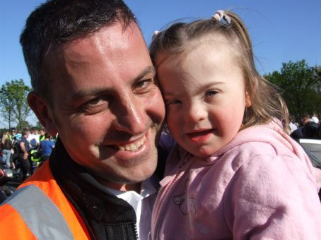 Aidan (organiser) and his gorgeous daughter, Robyn.