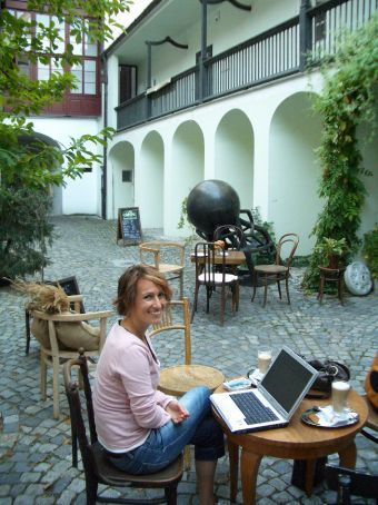 Our favourite cafe haunt in Prague. Located in a gorgeous ambient courtyard, with no passing parades of tourists or locals.