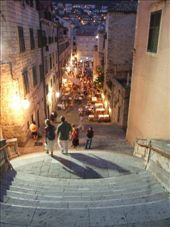 Night time in one of the many alleyways in Dubrovnik.: by maria_brett, Views[402]
