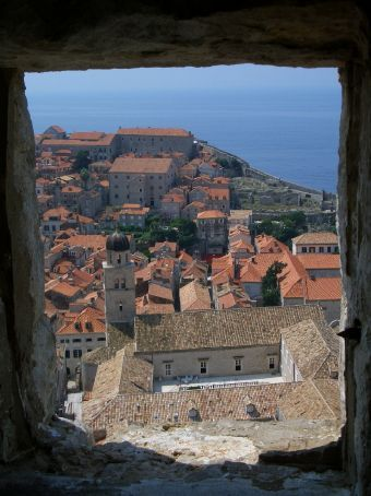 The view from within one of the wall towers.