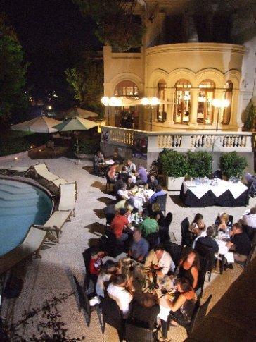Friday night party at Hotel de la Ville. We invited 250cc Team Matteoni to come along...