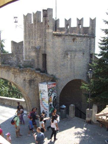 Inside the gates of San Marino castle