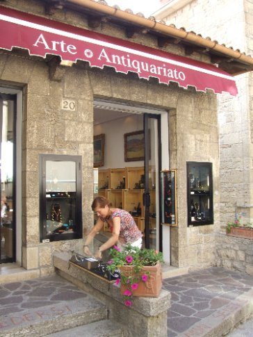 Typical boutique shop in this tax-haven-in-the-hills (and boy did we spend big!)