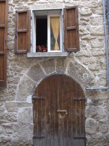 San Marinese doorway and shuttered window