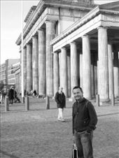 Rob in front of the Brandenburg Gate: by maria_brett, Views[233]