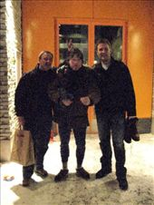 Markku, Clark and Alex. By the end of the trip, actually from the beginning, Clark decided that wearing long-johns and felt slippers on their own was cool.: by maria_brett, Views[208]