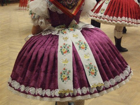 Girls' costumes go for around 17000 Czech Korunas - about AUD$1200. Wouldn't you hate to spill a glass of local red all over it.