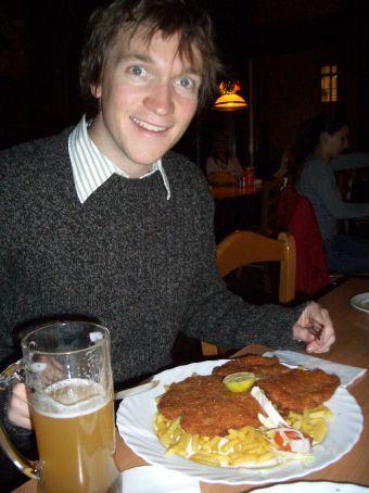 The compulsory viener schnitzel in Vienna!