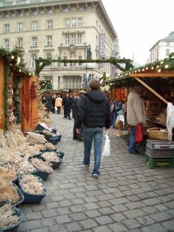 On the hunt for some Chrissy deco's in one of Vienna's famed and fabulous Christmas markets.