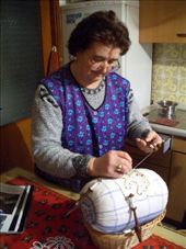 A visit to Anja's aunt wouldn't have been complete without her demonstration of traditional patterned lace-making...: by maria_brett, Views[299]