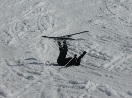 ...at least it improves performance on the snow and softens the impact. Don't drink and ski, kiddies.
