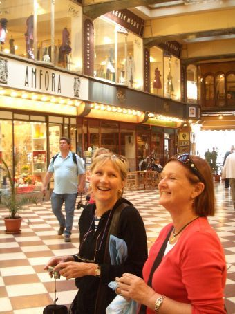 The Two Sue's living it up in Prague.
