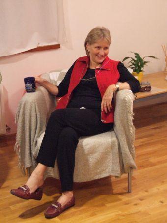 No description required! Sue and a cuppa-tea.