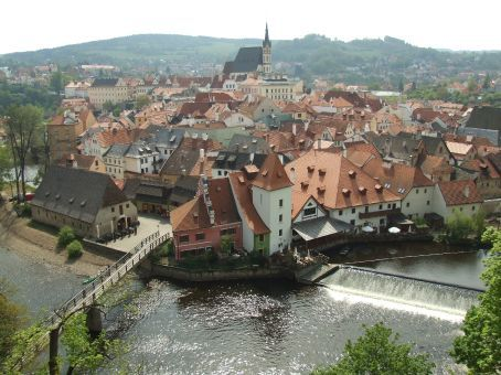 Cesky Krumlov, South Bohemia. A gothic-era town nestled in a 180-degree bend of the Vltava River. You must come here at least once in your life.