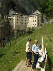 Lunchstop at Predjama Castle. In Sue's words,