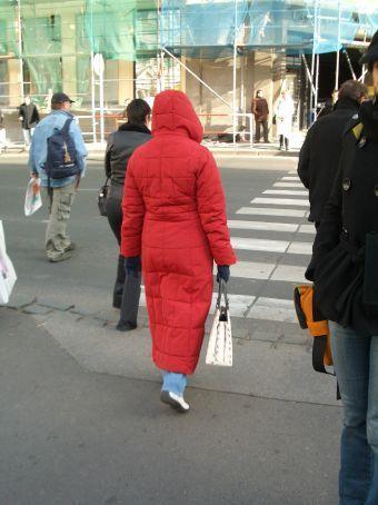 One of many walking sleeping bags.