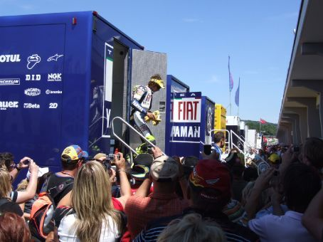 God on Two Wheels - according to some. Valentino Rossi coming out to play.