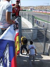 Jumping over the fence to the track, post-race.: by maria_brett, Views[229]