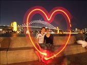 A magic (and creative) moment in front of the Sydney Harbour Bridge on a gorgeous autumnal night in April 06.: by maria_brett, Views[547]