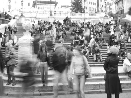 The Spanish Steps - apparently the longest and widest staircase in all Europe.  Not a great shot but it's the only one I could get.  Unfortunately there was a huge ad at the top of the steps encasing the obelisk - something I didn't want to capture!
