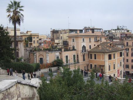 View from the top of the Spanish Steps.