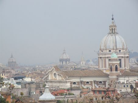 The roof tops of Rome. As Dean Martin once sang -Arrivederci Roma!