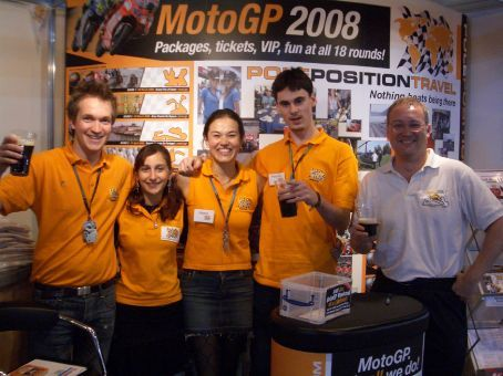 All set at the UK's International Motorcycle and Scooter Show in Birmingham - (actually beer-o'clock). Exhibited there for 9 days, driving there and back from Prague over 2 days. Talk about 2 weeks of Groundhog Day!!